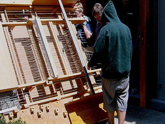 remontage de l'orgue